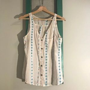 Hippy Button Up Tank